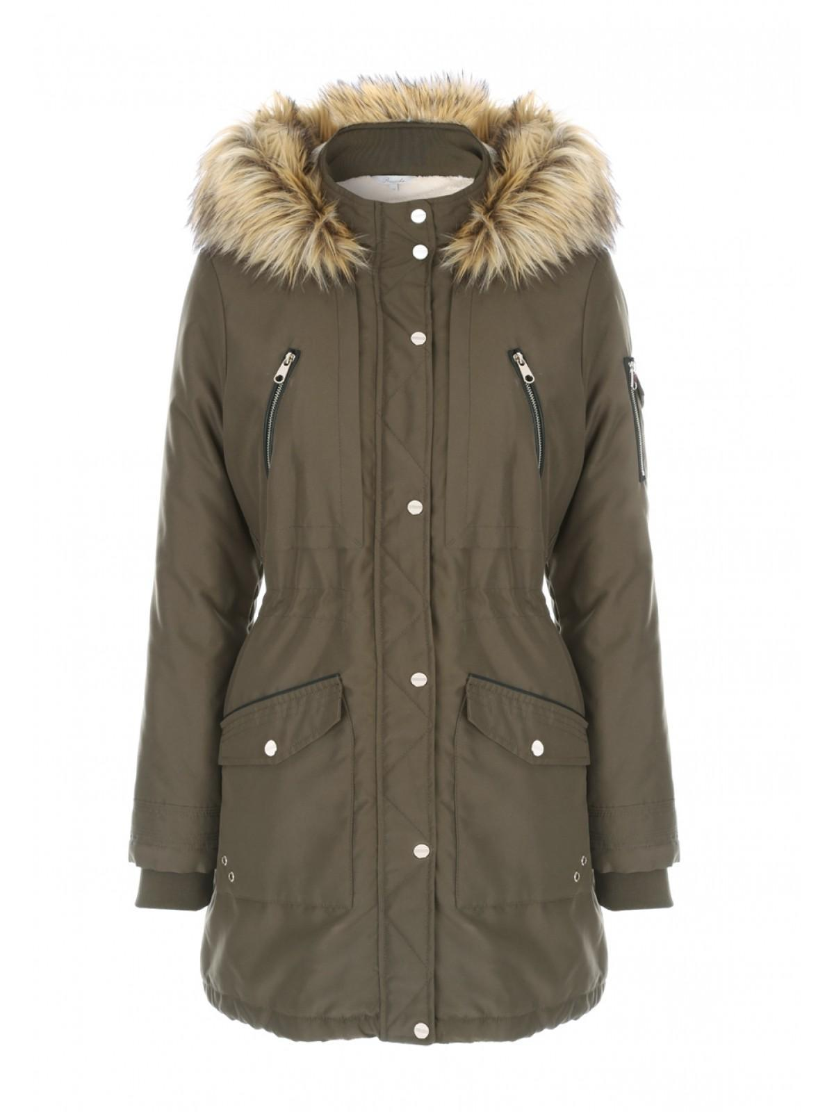 Womens Khaki Parka Coat | Peacocks