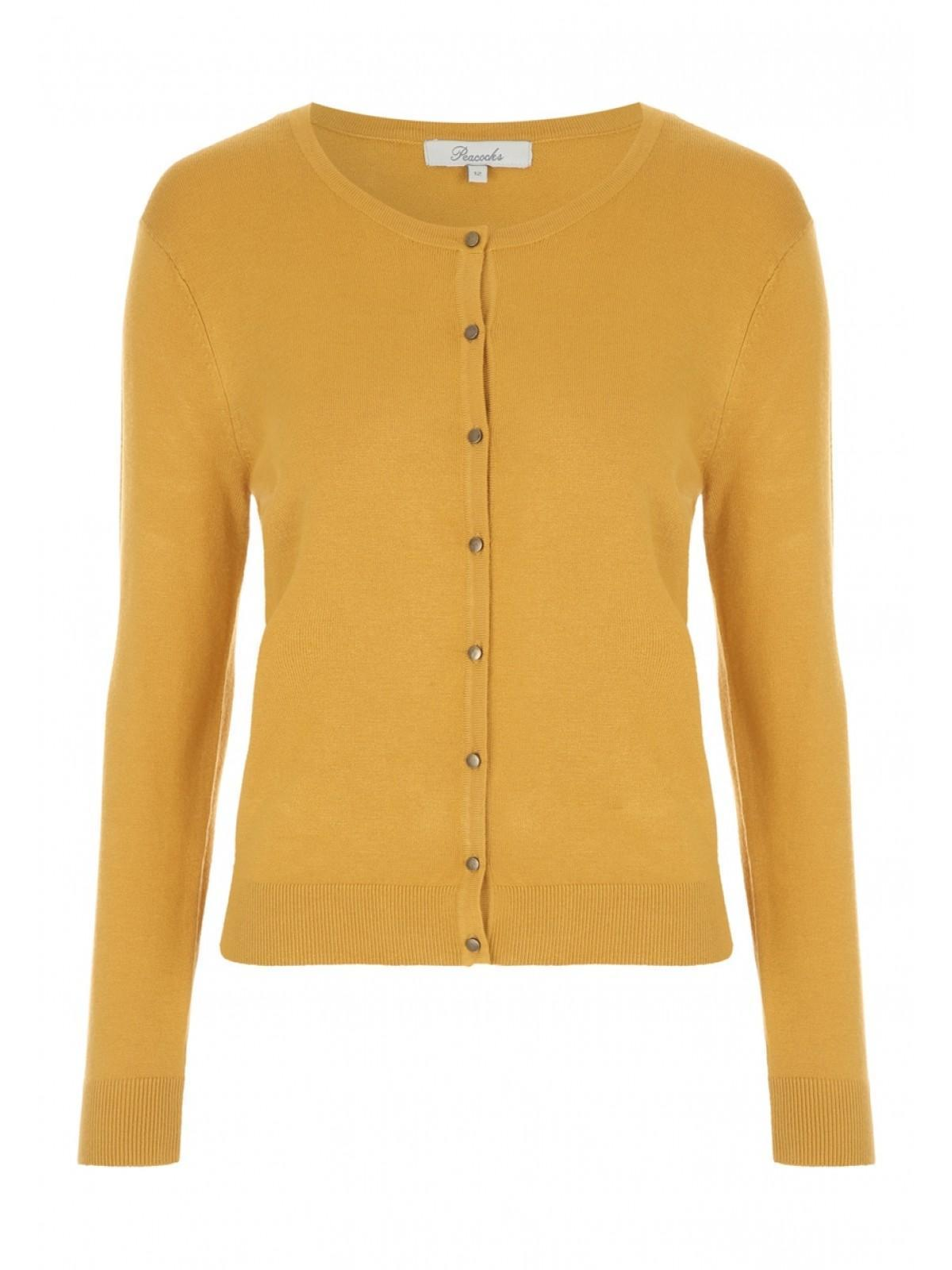 Womens Mustard Cardigan | Peacocks