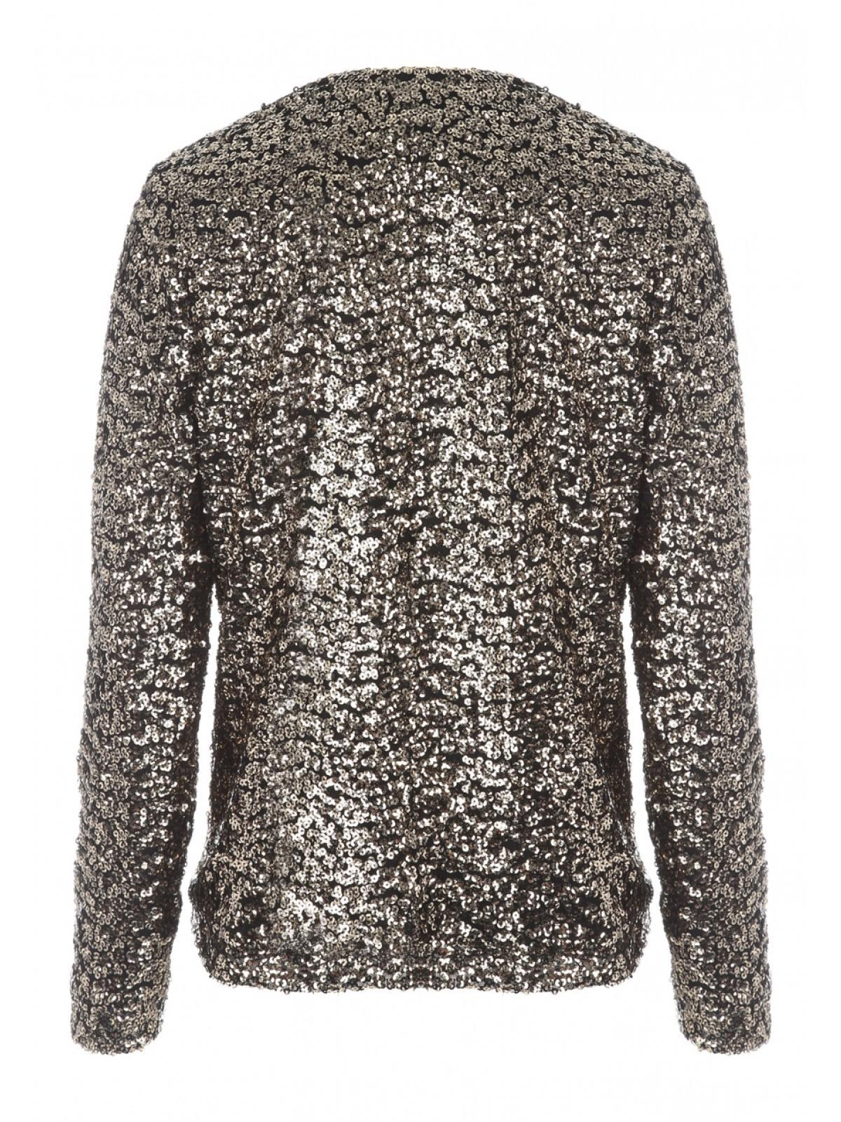 Womens Gold Sequin Waterfall Jacket   Peacocks