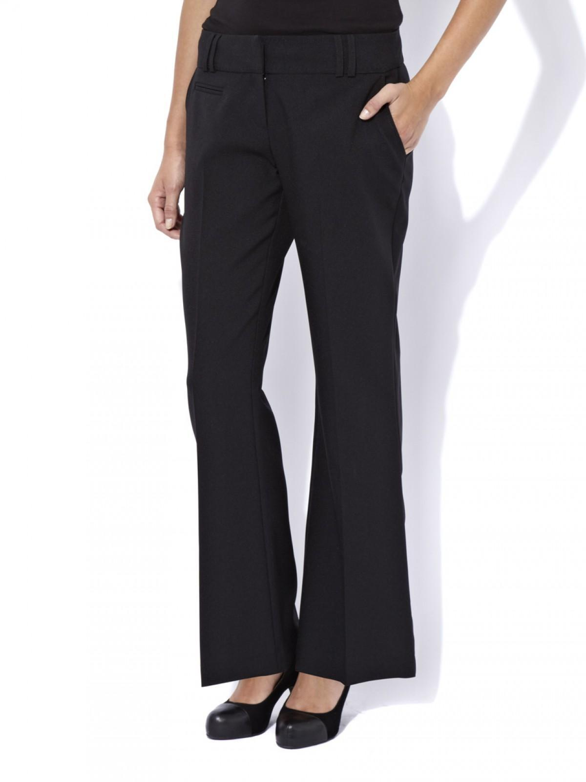 Black bootcut ladies trousers