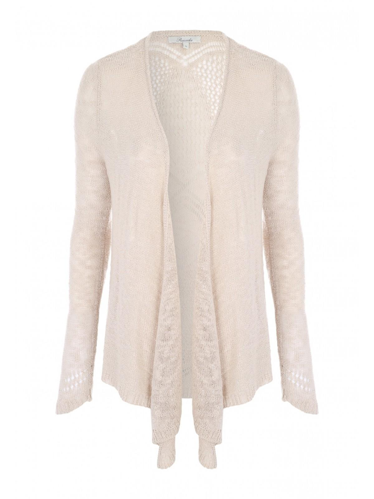 Womens Beige Waterfall Cardigan | Peacocks