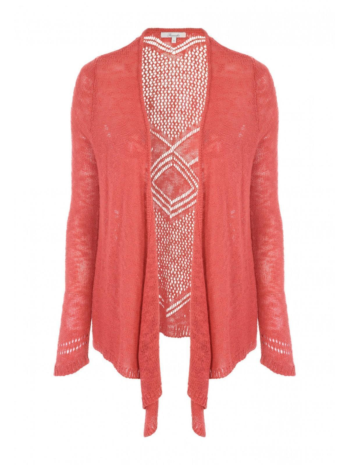Womens Orange Waterfall Cardigan | Peacocks