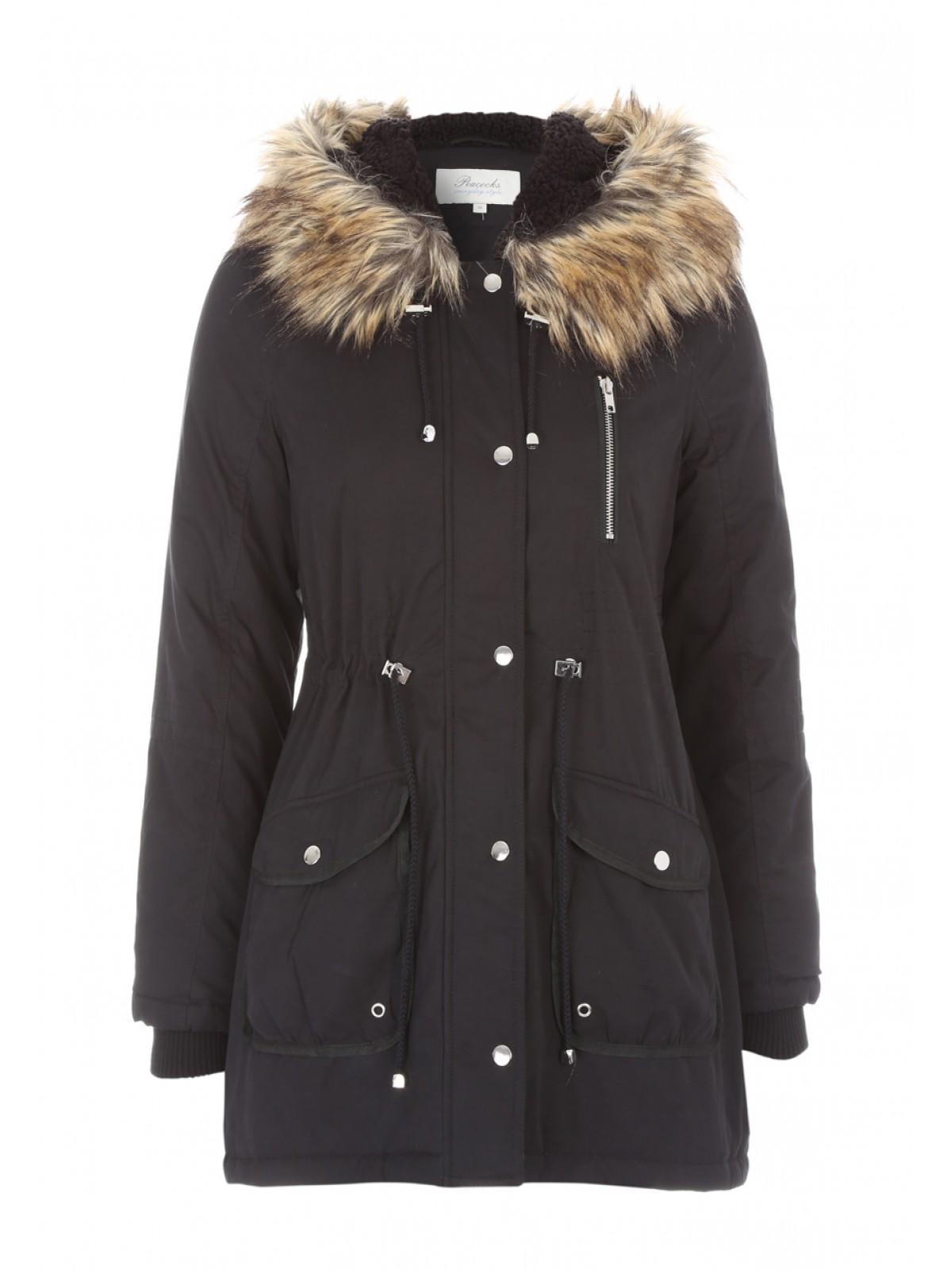 Womens Faux Fur Hood Parka Coat | Peacocks