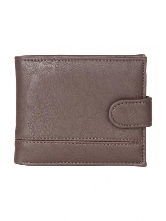 Mens Embossed Popper Wallet