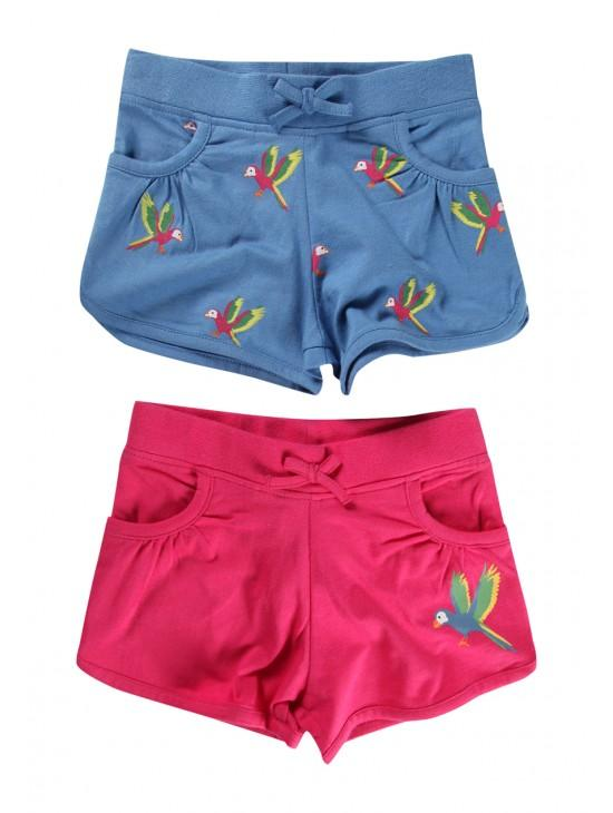Younger Girls 2 pack Jersey Shorts
