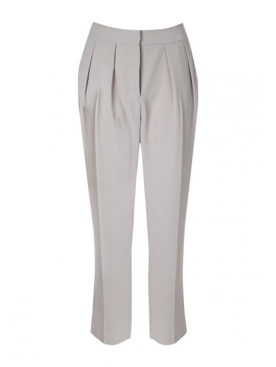 Womens Pleated Crop Trousers