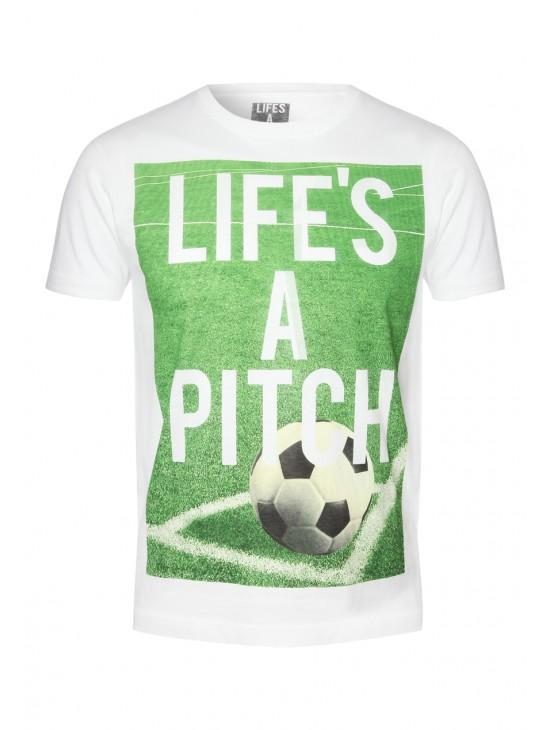 Mens 'Lifes A Pitch' T-shirt