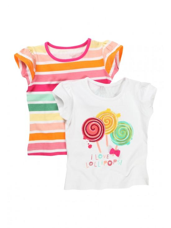 Young Girls Lollipop T-shits 2PK