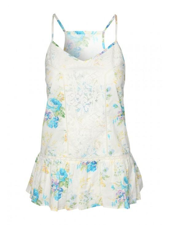 Womens Printed Lace Top