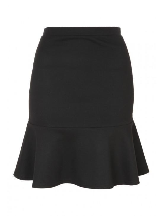 Womens Peplum Hem Skirt