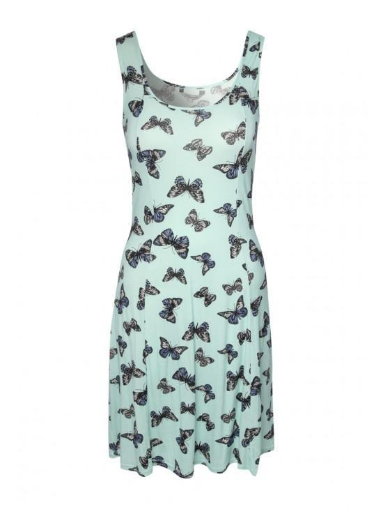 Womens Printed Skater Dress