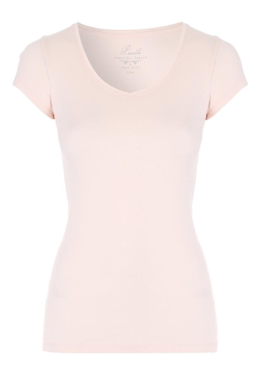 Womens Pale Pink V Neck T Shirt | Peacocks
