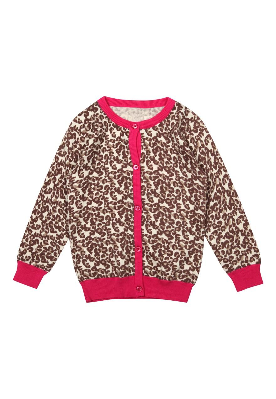 Girls Younger Girls Animal Print Cardigan | Peacocks