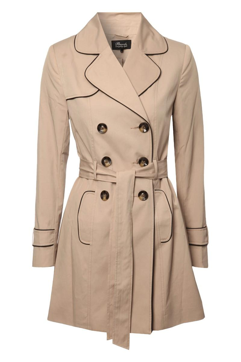 Womens Belted Button Up Mac - Coats & Jackets - Womens | Peacocks