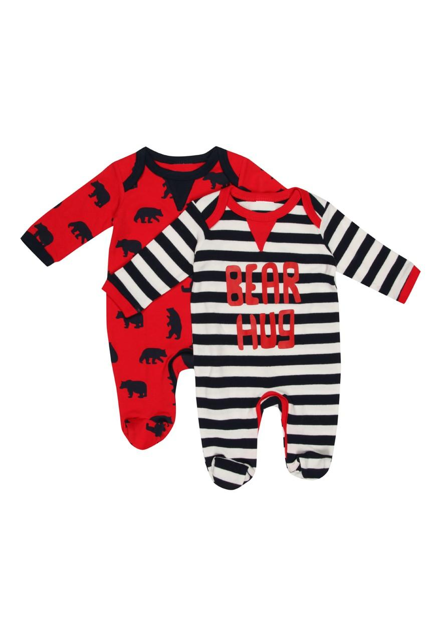 Baby Boys 2 Pack Sleepsuits - 0 - 24 Months (Baby Boys ...