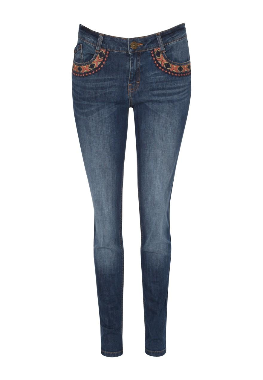 Womens Embroidered Skinny Jeans | Peacocks