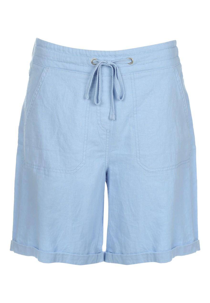 Women 39 s casual linen shorts peacocks for Women s fishing shorts