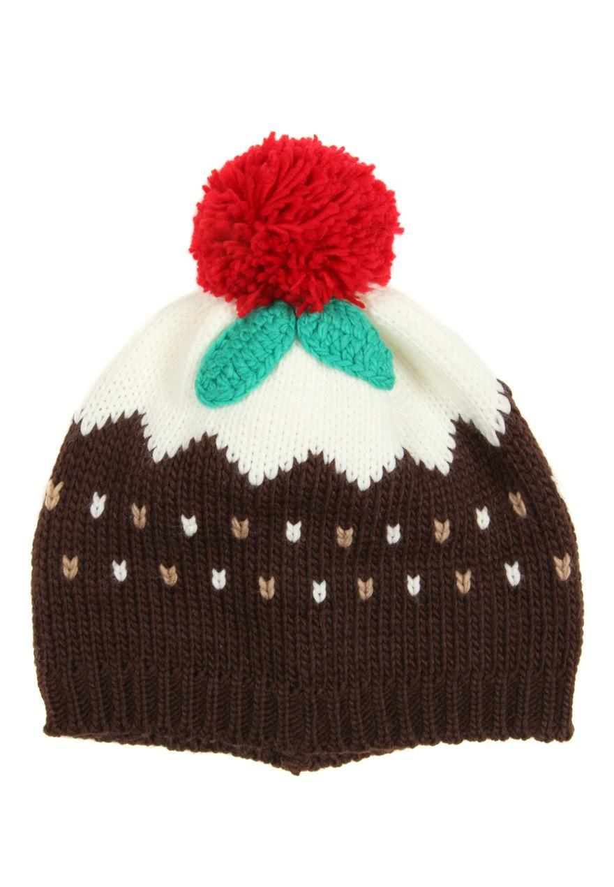 Womens Christmas Pudding Beanie Hat | Peacocks