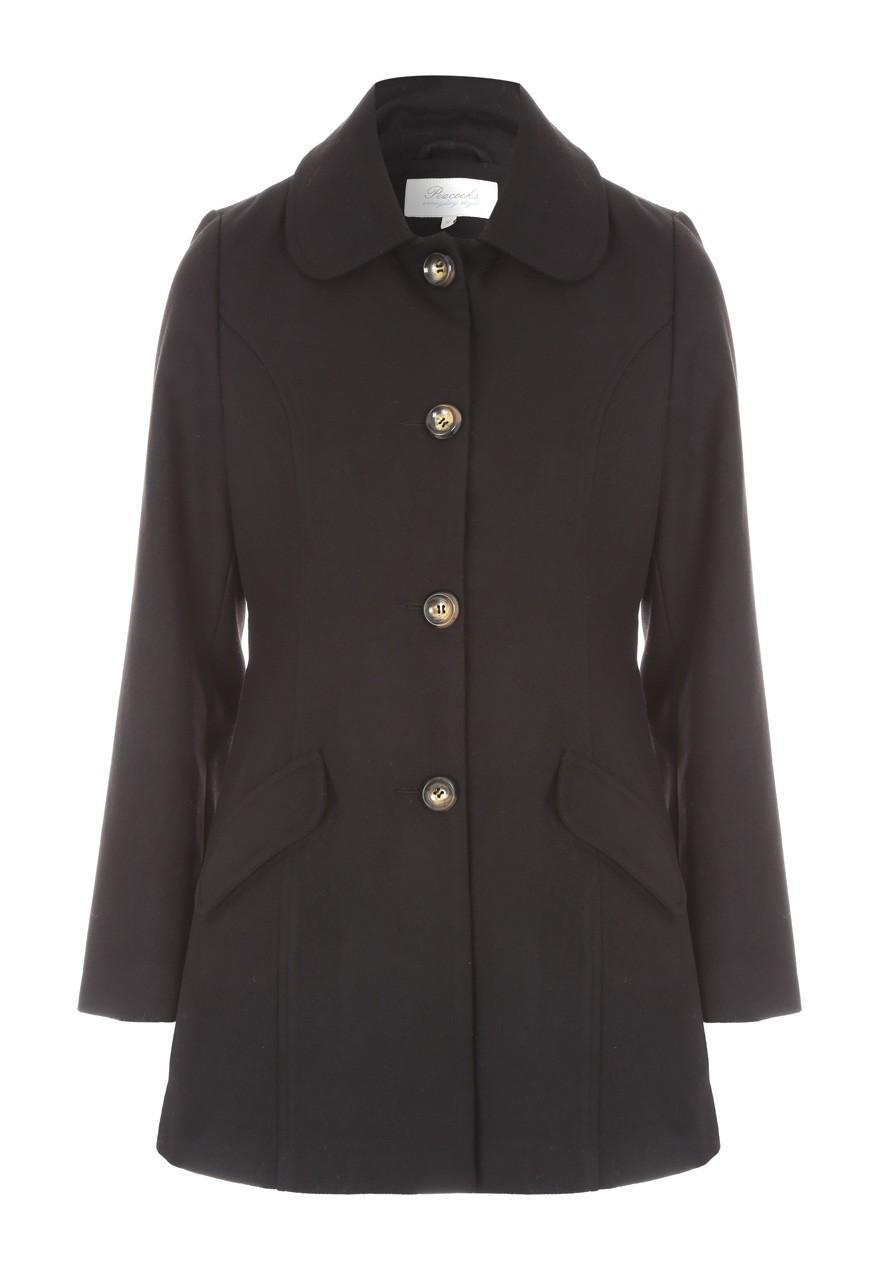Women's Black Dolly Coat | Peacocks