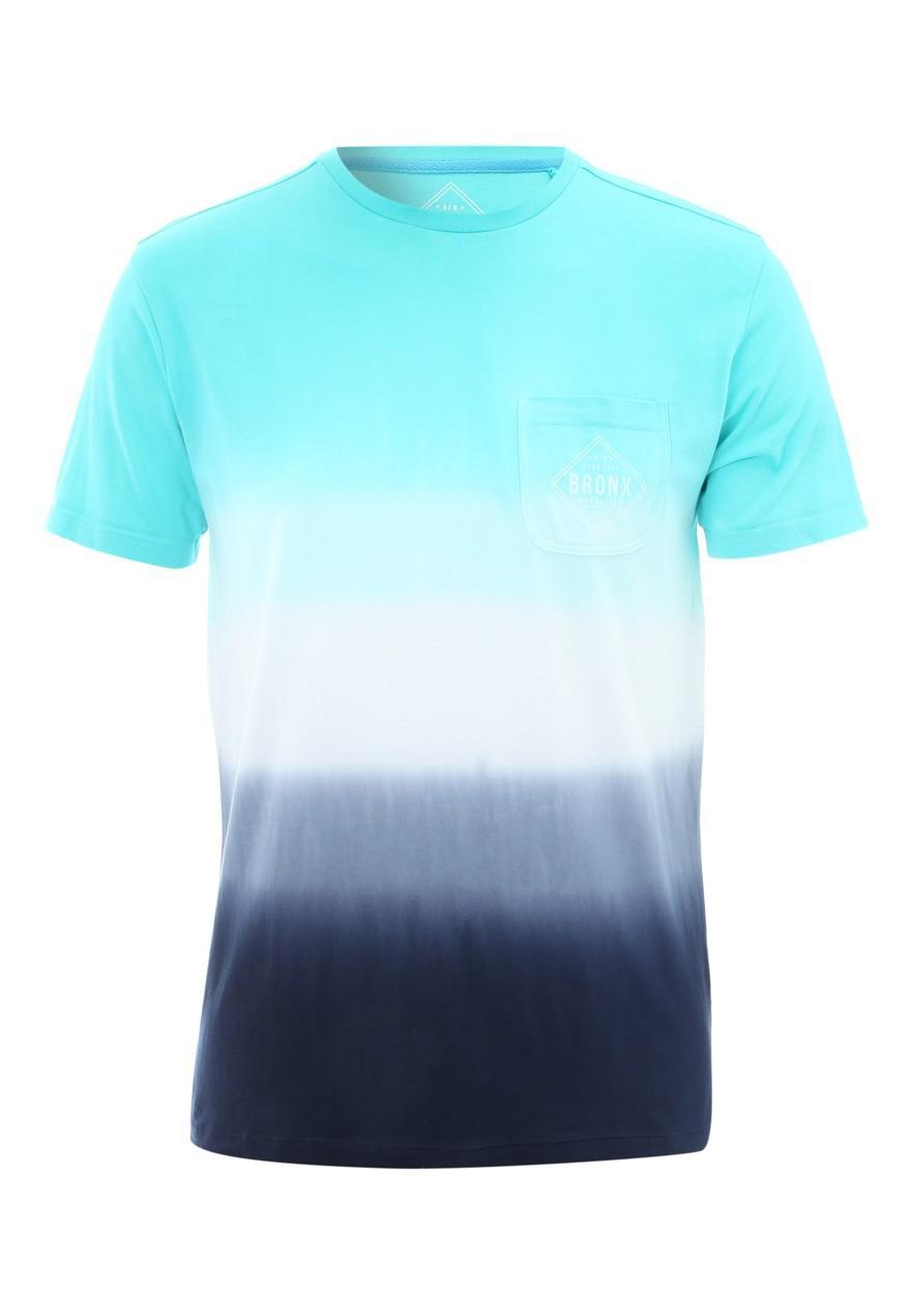Men 39 s dip dye bronx t shirt peacocks for Mens dip dye shirt
