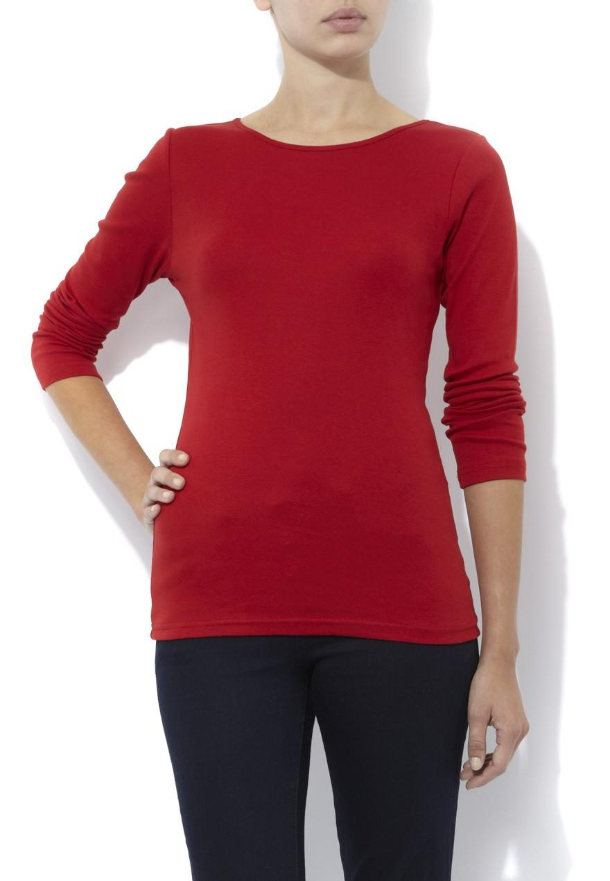 Womens Basic Long Sleeve T Shirt Peacocks