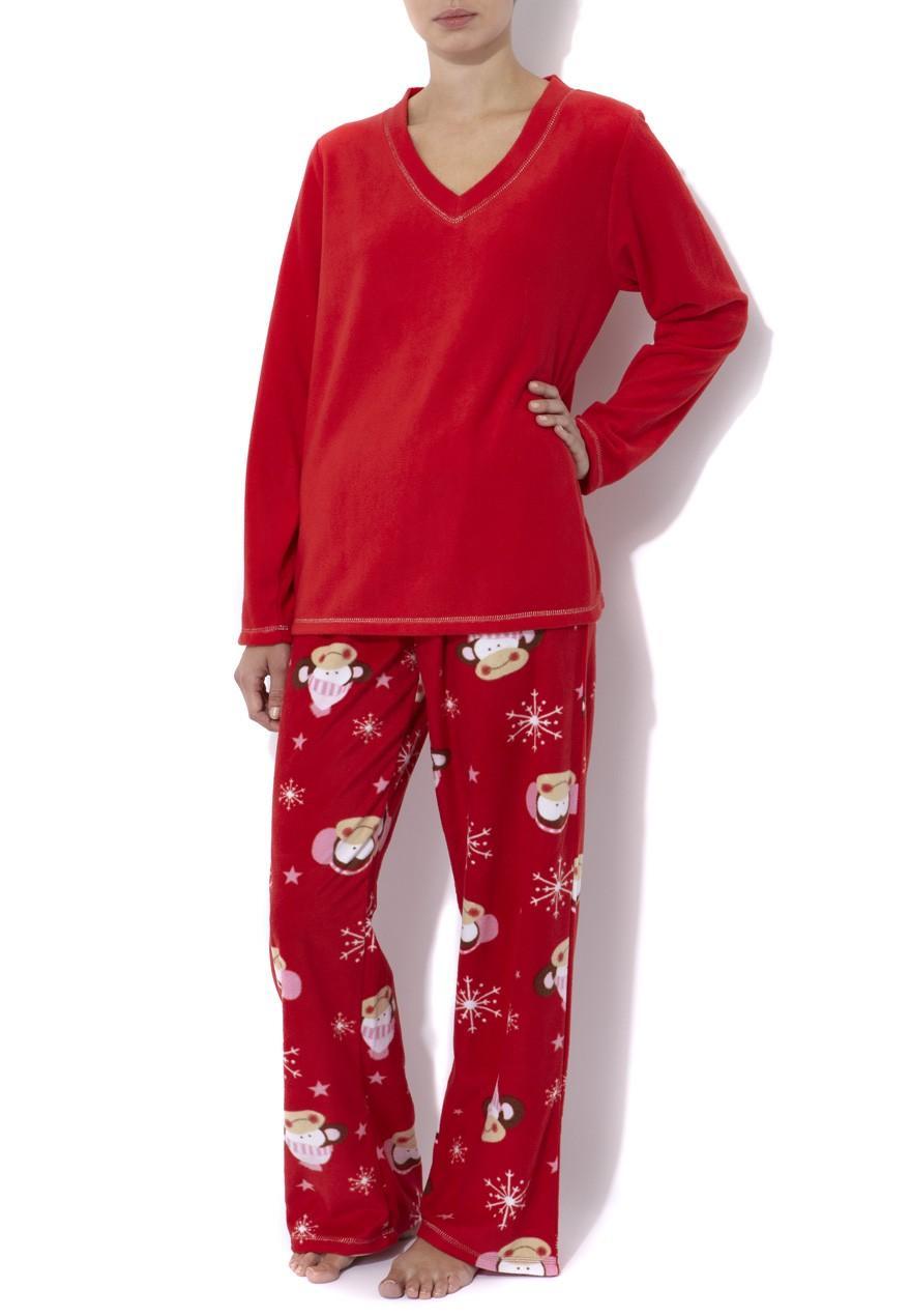 Adonna Womens White Red & Gray Leaf Fleece Pajamas Floral Holly Sleep Set. Sold by The Primrose Lane. $ $ Hanes Women's Polar Fleece Dog Print Pajama Set. Sold by flip13bubble.tk $ $ Cozy Loungewear Women's Printed Minky Fleece Pajama Pant with Plus Sizes.