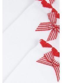 Younger Girls 3PK Red School Socks
