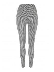 Womens Slim Leg Dogtooth Trousers