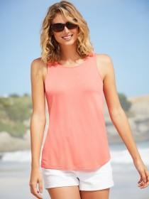 Womens Fluorescent Orange Zip Back Vest
