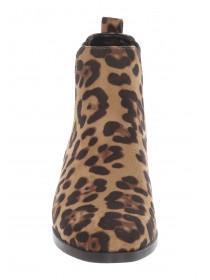 Womens Leopard Print Chelsea Boots