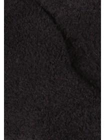 Womens Black Fluffy Gloves