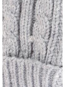 Womens Grey Gloves