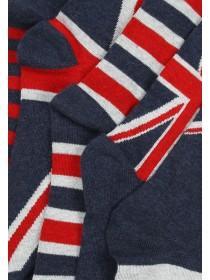 Mens 5PK Dark Blue Union Jack Design Socks
