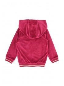 Younger Girls Berry Zip Through Sweater