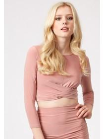 Jane Norman Pink Front Knot Co-Ord Top