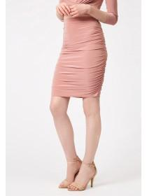 Jane Norman Pink Ruched Sides Pencil Skirt