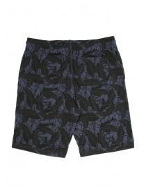 Mens Dark Blue Foliage Sweat Shorts