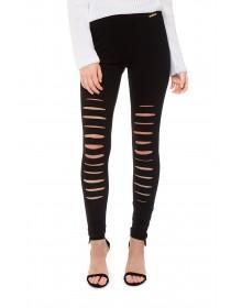 Jane Norman Black Multi-Rip Leggings