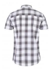 Mens White T-Shirt and Shirt Set