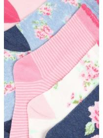 Girls Floral 5PK Design Socks