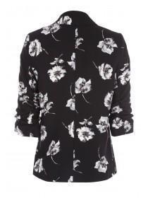 Womens Black Floral Jacket