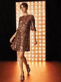 Womens Rose Gold Sequin Dress