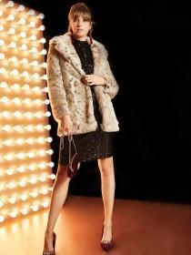 Womens Natural Fur Coat