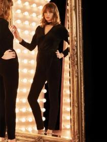 Womens Black Velvet Jumpsuit