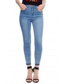 Jane Norman Light Blue Raw Hem Jeans