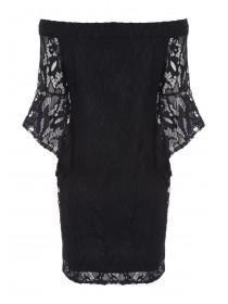 Womens ENVY Black Lace Bardot Dress