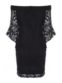 Womens ENVY Black Lace Bardot Dress