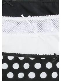 Womens 4pk Spot Print Mini Briefs