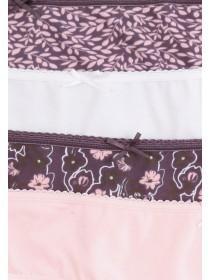 Womens 4pk Purple Mini Briefs
