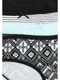 Womens 4pk Aztec Printed Mini Briefs